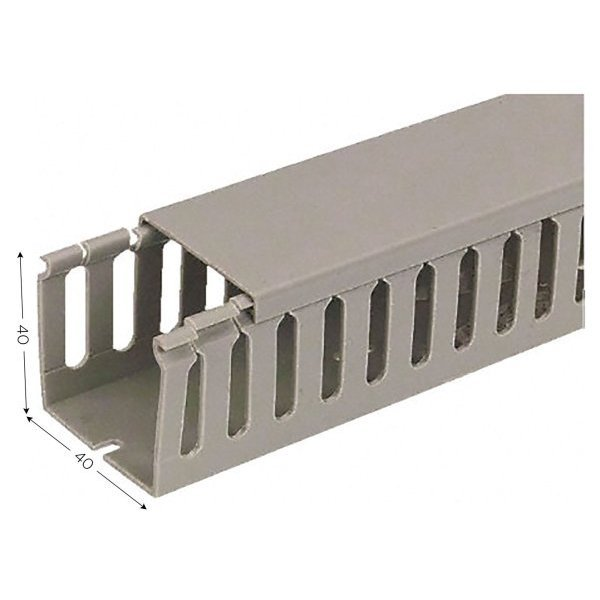 Cable trunking for electric wires L 2000 mm