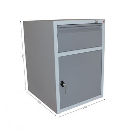Housing with 1 drawer and 1 lockable door for QUALIPOST 3000