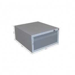 Housing with 1 drawer and lock for QUALIPOST 3000