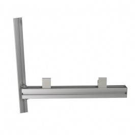 Swivel aluminium arm with two fixing stirrups