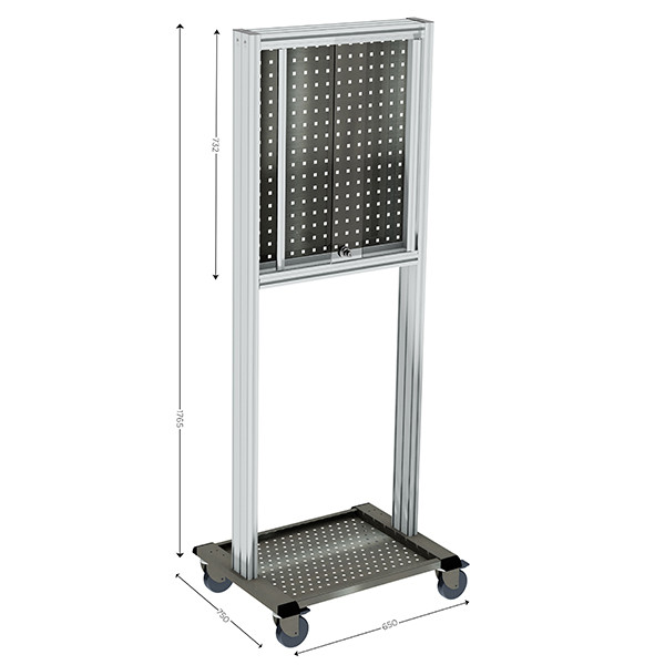 Stainless steel Mobile tool-holder trolley | MAINTPOST 650 STAINLESS STEEL