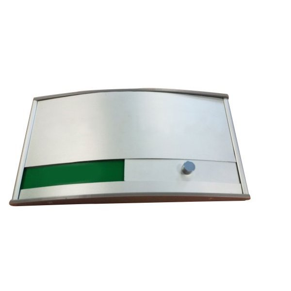 Door plate with green/red slider