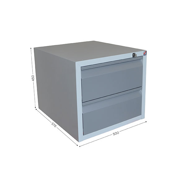 Housing with 2 lockable drawers for QUALIPOST 3000