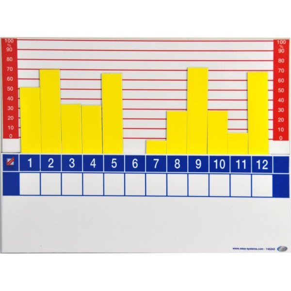 Magnetic plate for monitoring indicators | VISIOFLASH GRAPH