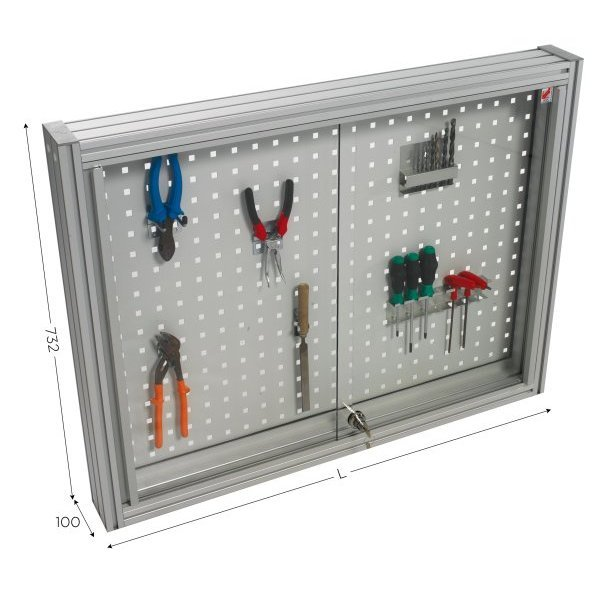 Perforated tool holder panel   MAINTPOST 200B WALL-MOUNTED