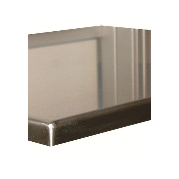Polished stainless steel top