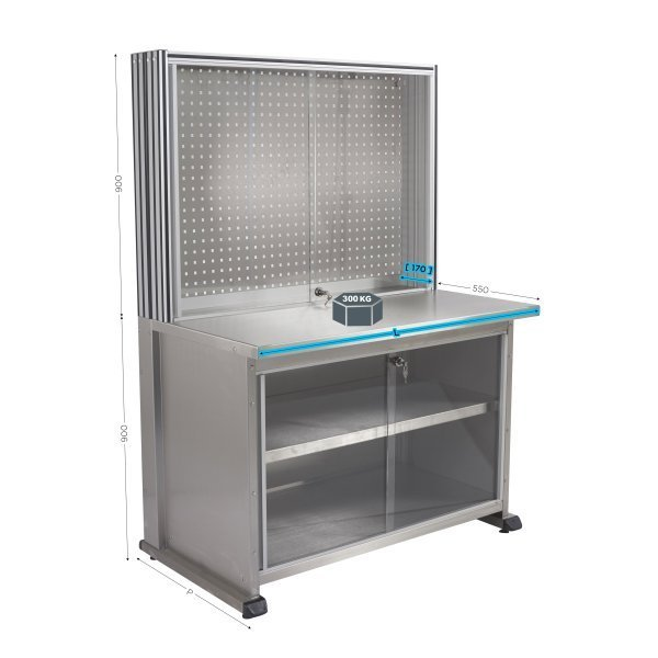 Professional stainless steel workshop bench | MAINTPOST 6500 INOX