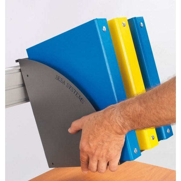 Steel binder holder with 3 compartments