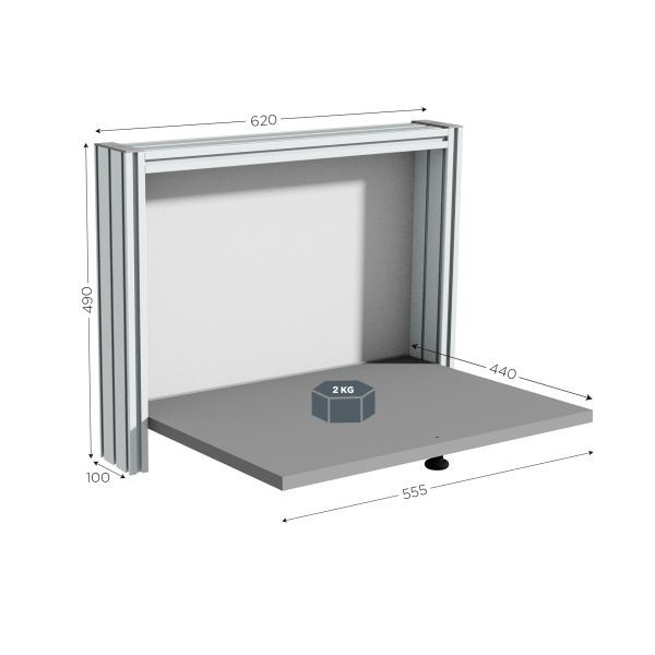 Wall-mounted quality control station | QUALIPOST 200A WALL-MOUNTED